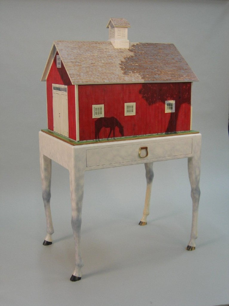 Tom Dahlke's horse barn folding writing desk