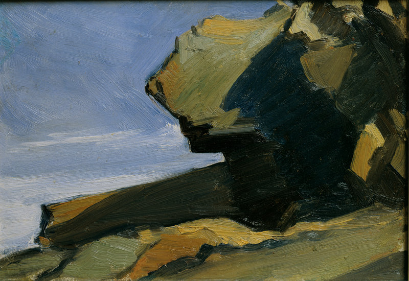 """""""Rocky Projection at Sea"""" by Edward Hopper, from the Hopper exhibition at Bowdoin College"""