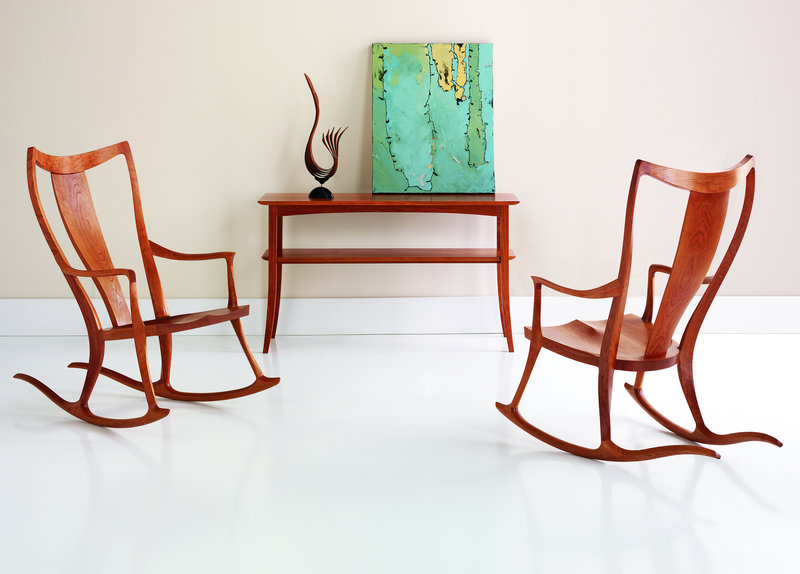 Thos. Moser's Pasadena rocker has a fluid, sculptural appeal.