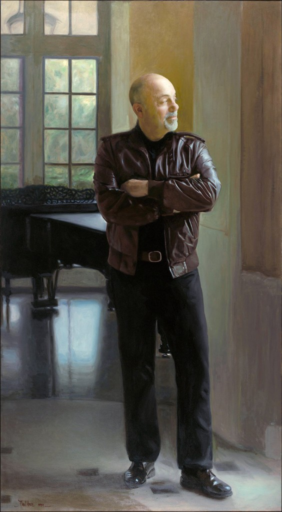 Wyse's portrait of musician Billy Joel.