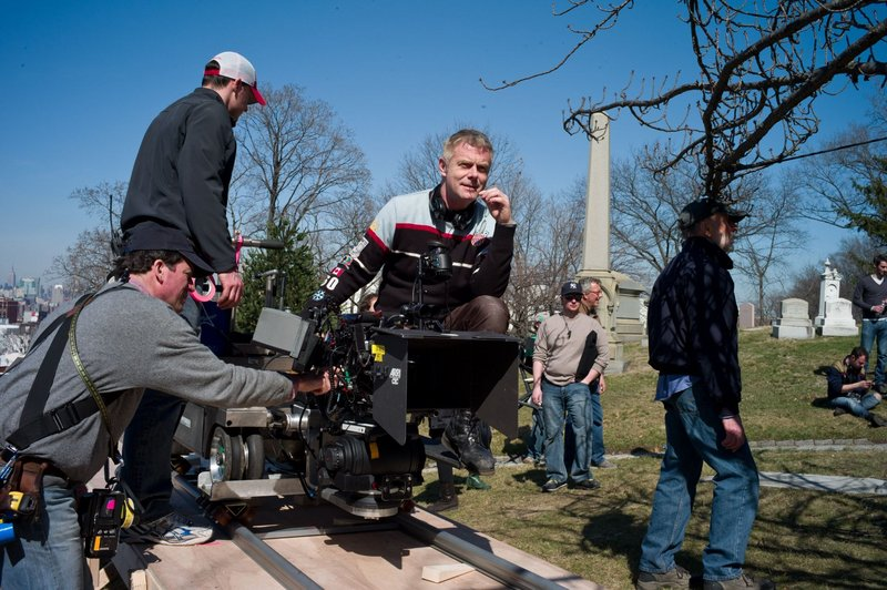 "Director Stephen Daldry, pictured on the set of ""Extremely Loud,"" said Libby had ""huge responsibilities"" from start to finish in the production of the film."