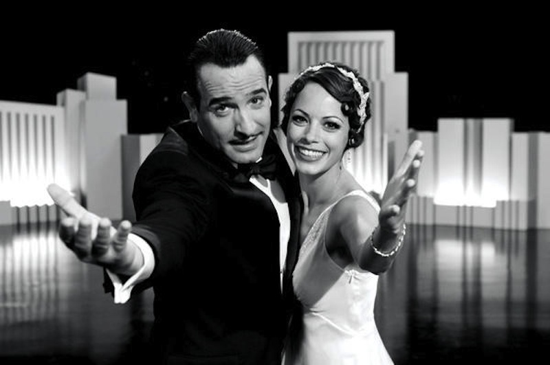 Jean Dujardin and Berenice Bejo in a scene from