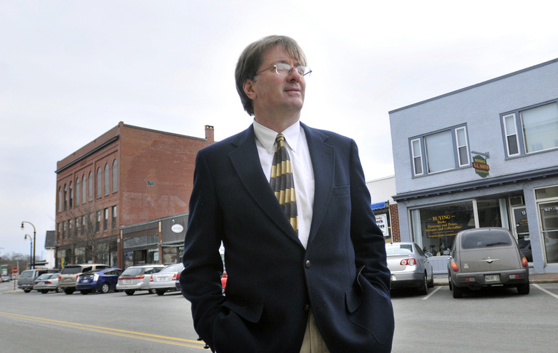 Drinan Properties owner Michael Drinan says tenants in his building on Ocean Street in South Portland oppose the city's plan to remove angled parking spots and replace them with parallel parking. Drinan likes a compromise proposal that has a mix of both.
