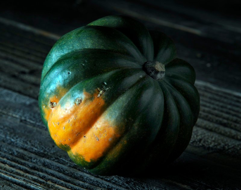 Acorn squash, a dark bluish-green squash, may be the most common winter squash outside California.