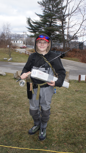 Sam Kenney of Dixmont, who is in the seventh grade, will take part in the prestigious Pennsylvania Fly Tying event next week.