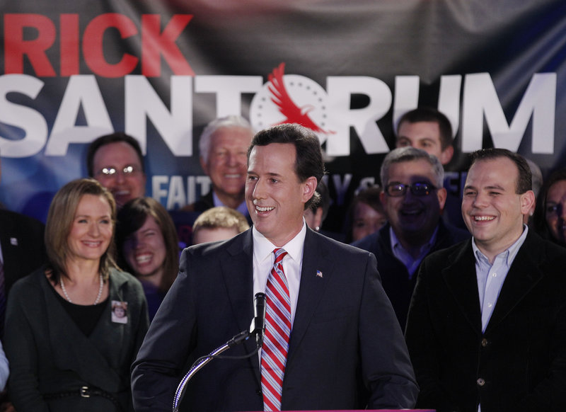"Rick Santorum said that he could do ""exceptionally well"" in Michigan's presidential nominating contest Feb. 28."