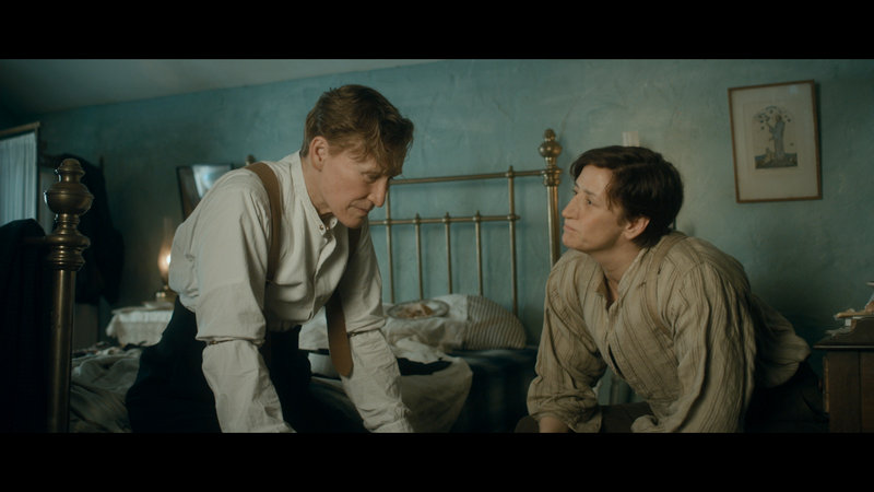 Close as Albert Nobbs in a scene with co-star Janet McTeer.