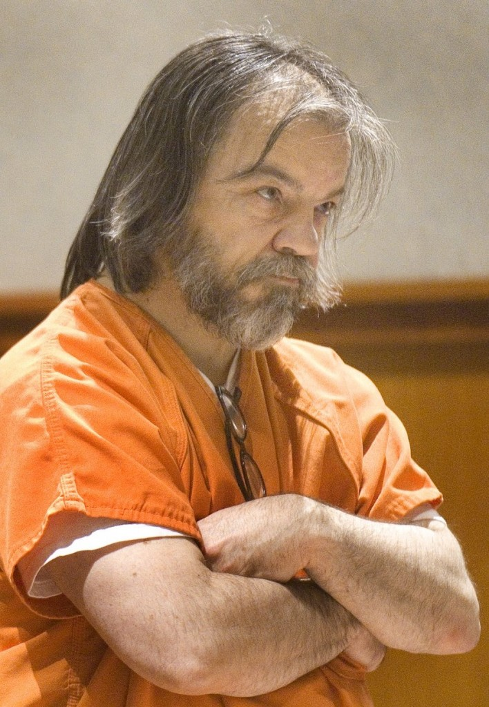 William Hanaman listens to Judge Thomas Warren hand down a sentence of 40 years in the murder of his girlfriend, Marion Shea, on March 17, 2011. Murder Domestic Violence