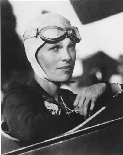 An undated photo shows Amelia Earhart, the first woman to fly solo across the Atlantic Ocean.