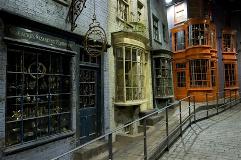 This is a Monday, Dec. 19, 2011 file photo of Diagon Alley, at the Warner Brother Studios, Watford England. Diagon Alley is part of