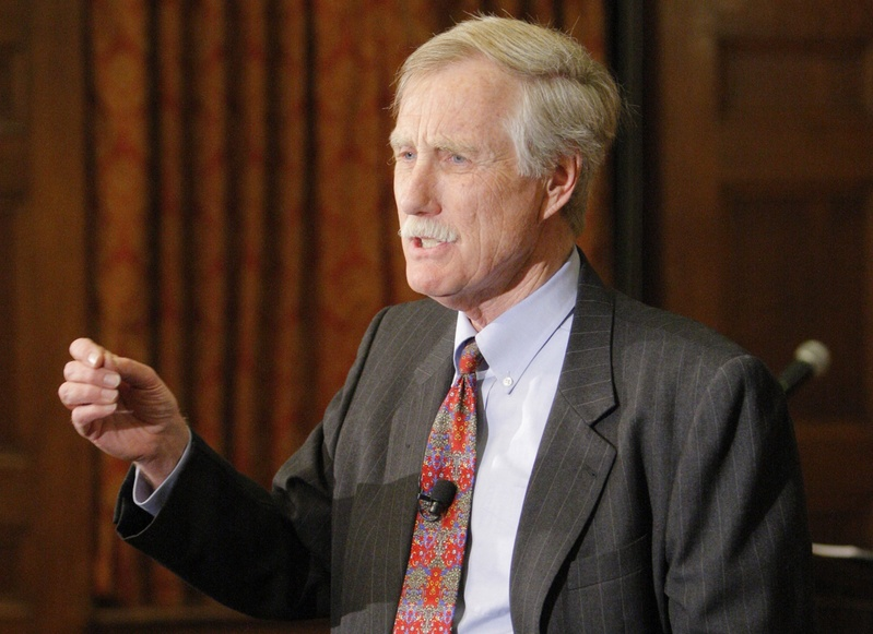 Angus King is running for the U.S. Senate seat being vacated by Olympia Snowe. King enters a political environment that is more divisive and bitter than during his previous campaigns.
