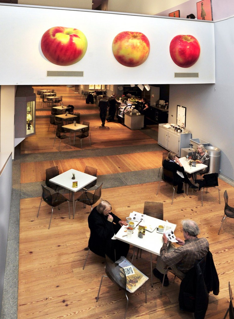 Patrons enjoy lunch in the Museum Cafe by Aurora Provisions at the Portland Museum of Art.