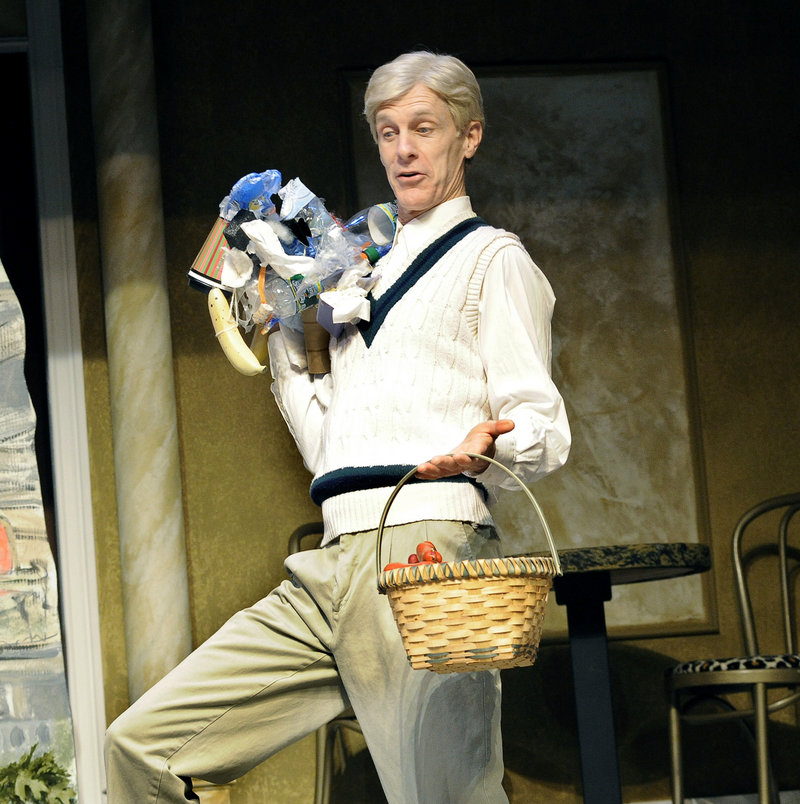 "Stephen Underwood during a dress rehearsal for the Good Theater production of ""Little Me"" at the St. Lawrence Arts Center in Portland. Underwood starred in ""Little Me"" with Good Theater a decade ago, establishing himself as one of Portland's best comedic actors."