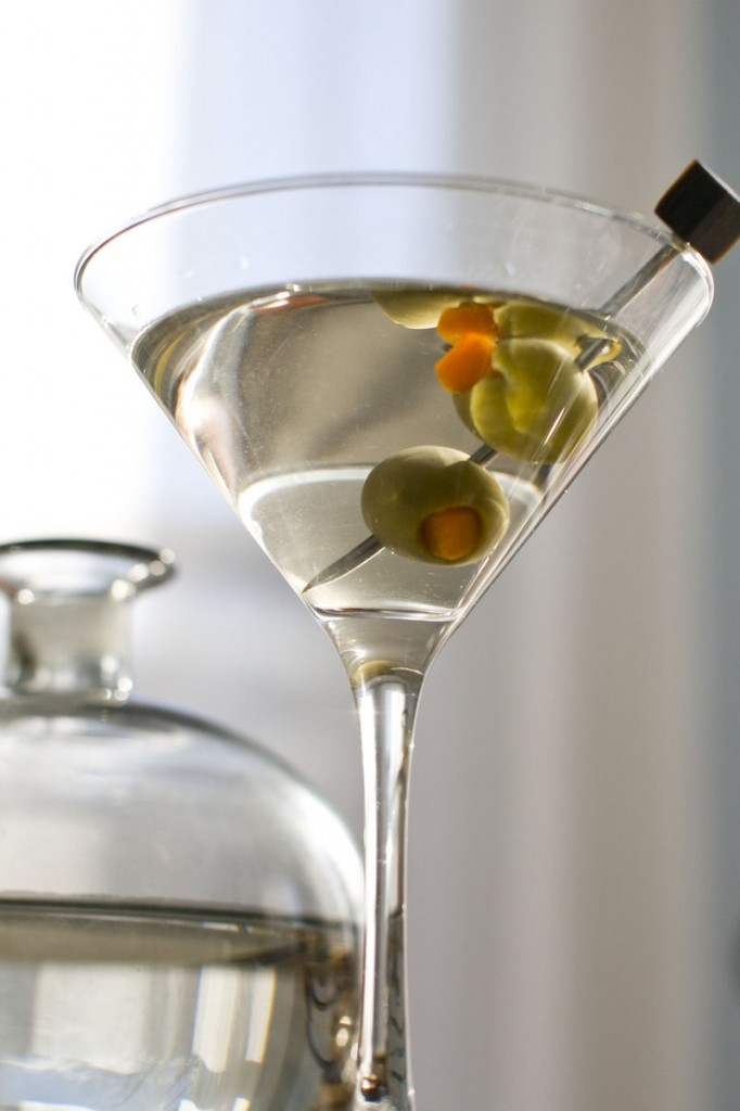 """A classic gin-and-vermouth martini, like the kind they throw back on """"Mad Men."""""""