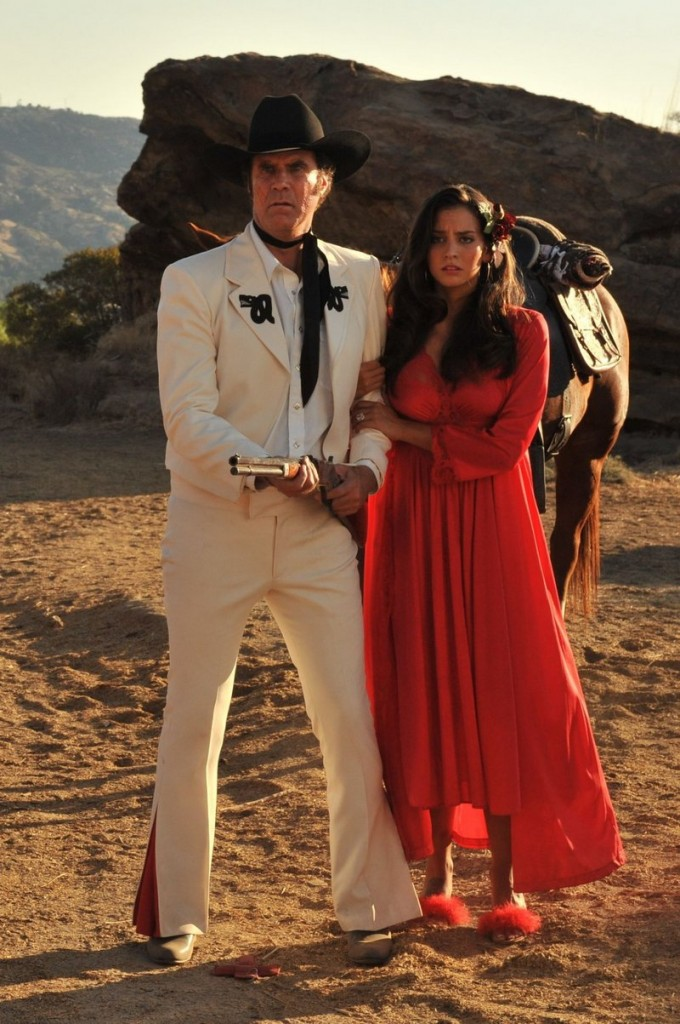 Will Ferrell and Genesis Rodriguez in