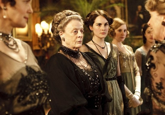Maggie Smith, left, Michelle Dockery and Laura Carmichael are part of a large ensemble cast of the surprise hit series