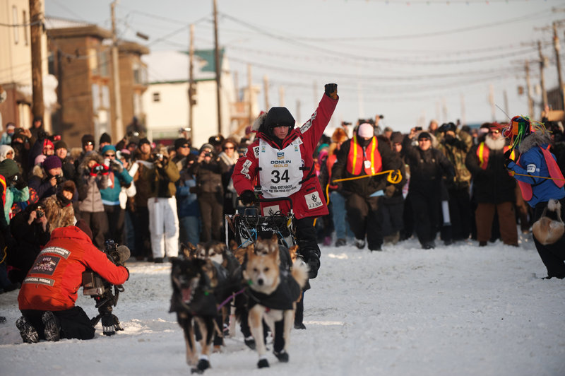 Dallas Seavey, all of 25 years old, planned in the middle of the Iditarod sled dog race to let the others surge ahead and use their strength, then pass them when it counted. The plan worked so well that Seavey, the youngest race winner, was the first to the finish line in Nome, Alaska.
