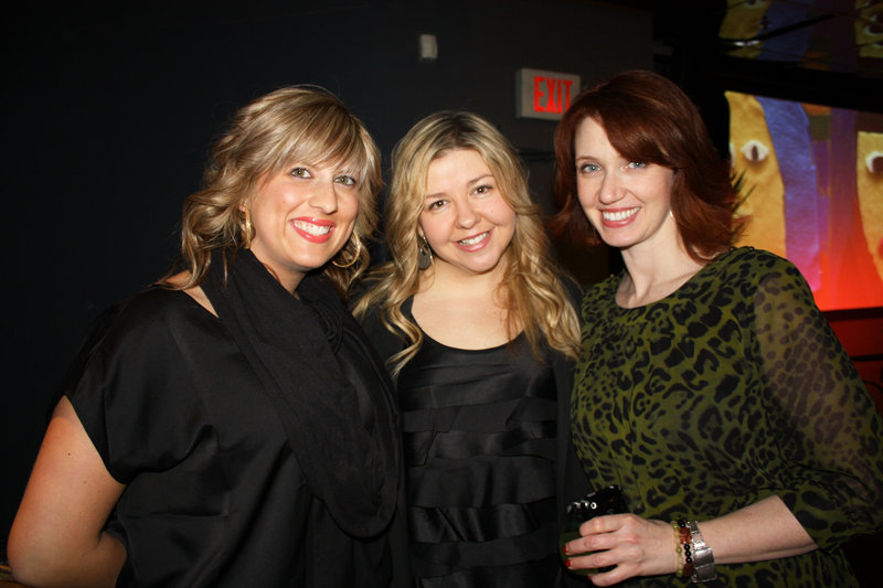 Bei Capelli stylist Jessica Ball with salon owners Melissa Vigue and Nancy Cartonio.