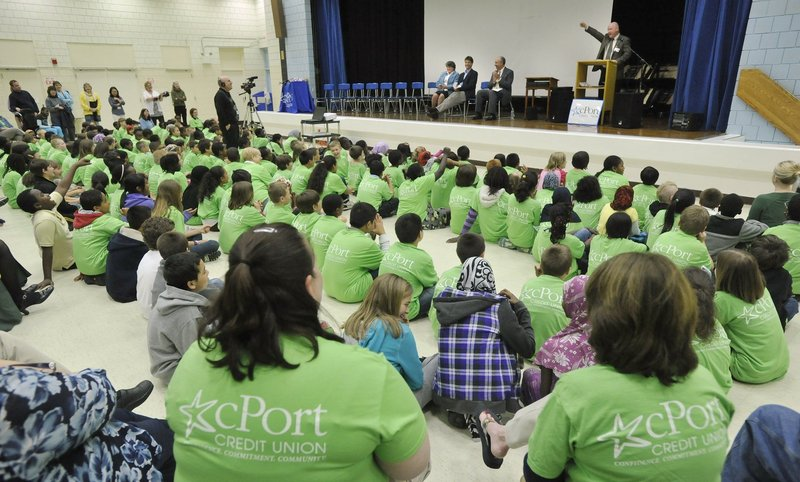 Riverton Elementary School held an awards ceremony for a unique program, sponsored by cPort Credit Union, designed to foster early interest in higher education, in May 2011.