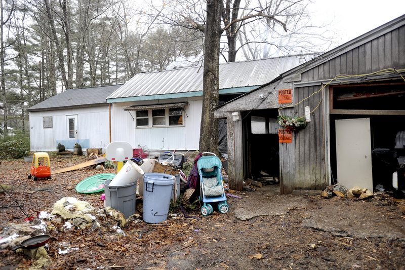 Site of a home invasion at 1187 Pequawket Trail in the Steep Falls section of Standish early Friday.