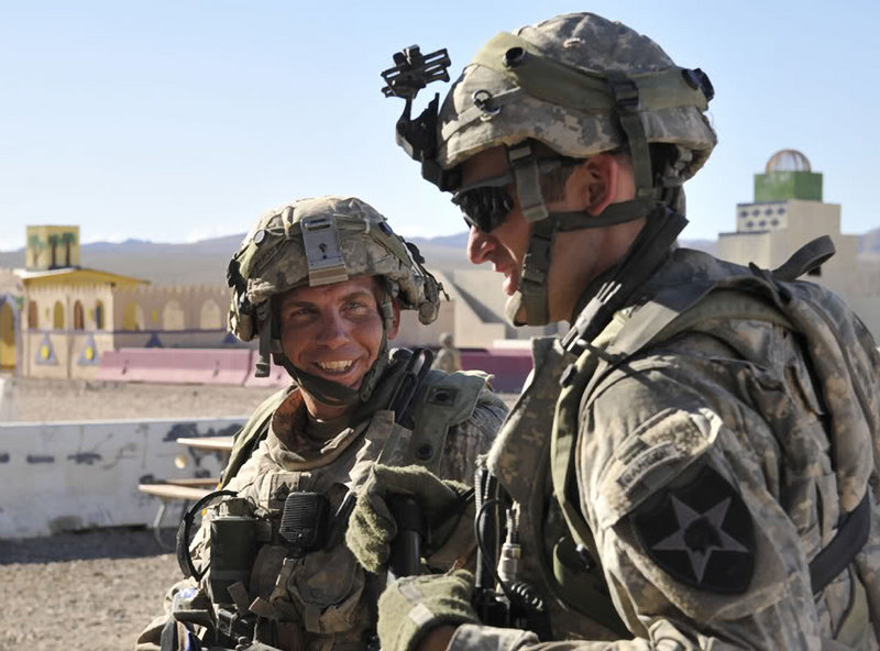 Staff Sgt. Robert Bales, left, takes part in an exercise at the National Training Center at Fort Irwin, Calif., last year. Bales, accused of killing 16 civilians in Afghanistan on March 11, is being held at Fort Leavenworth in Kansas.