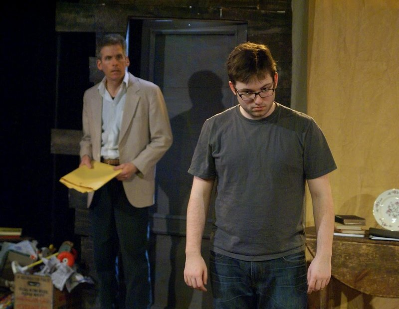 Jake Cote, foreground, and Paul Haley in Mad Horse Theater's