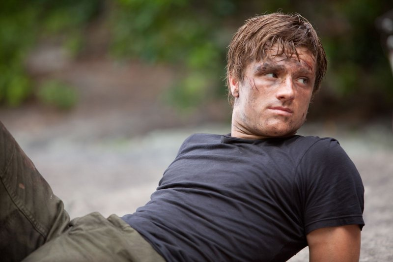 Josh Hutcherson plays a baker's son who trains for the games with Jennifer Lawrence's character.