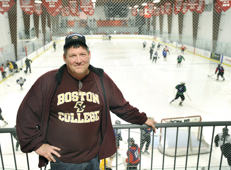 Pete Dumoulin watched his son grow up with hockey, play with his classmates, help Biddeford High win the Class A state championship, go on to play junior hockey. Now his son, Brian, is one of the country's best players with Boston College, with the NHL in his future.