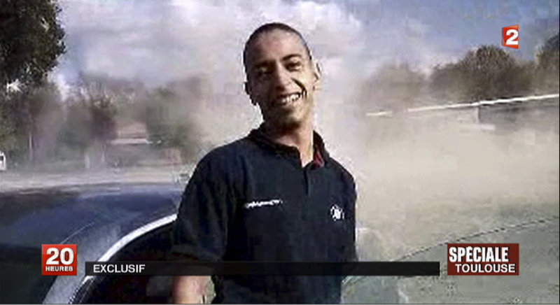 This image from TV shows Mohammad Merah, the suspect in the killing of three paratroopers, three children and a rabbi in France.