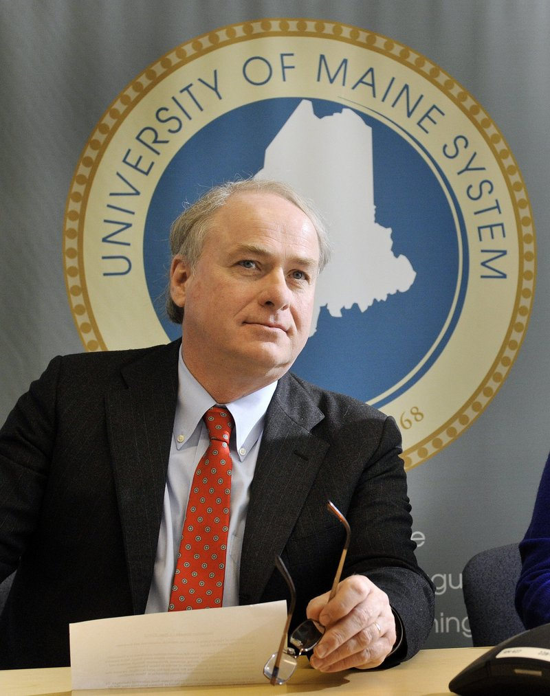 "New University of Maine System Chancellor James Page says he'll review all compensation programs to ensure they ""reflect the people of Maine."""