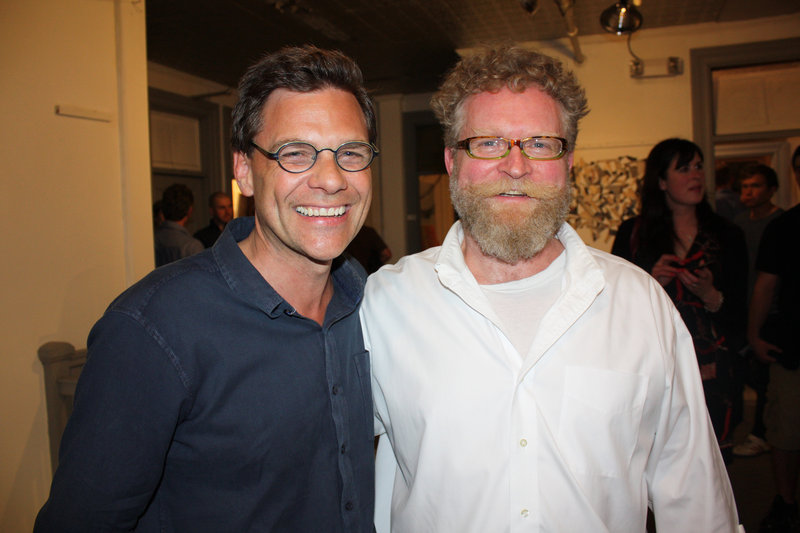 Portland Museum of Art Director Mark Bessire and Artist Studio Building owner Christopher Campbell.