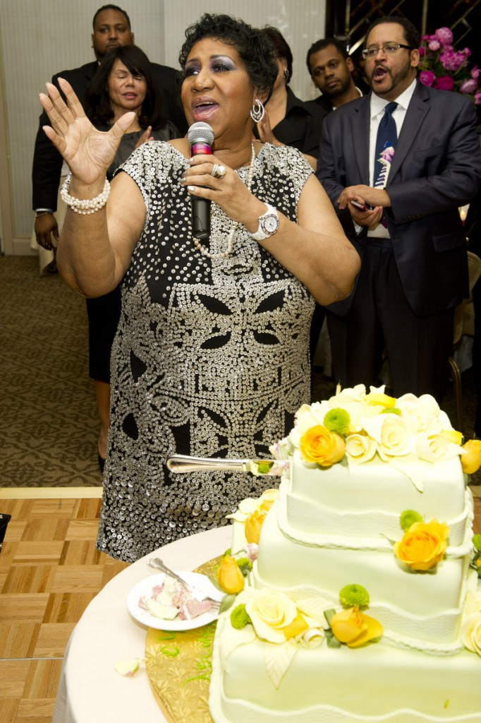 Aretha Franklin celebrates her 70th birthday Saturday in New York. She says she will work on a new album with music mogul Clive Davis.