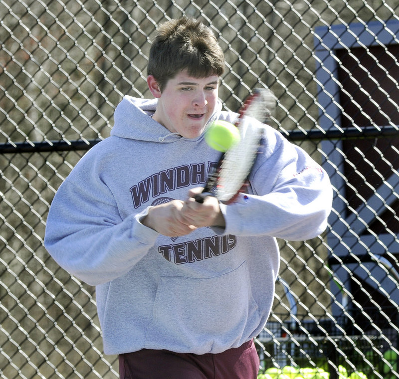 Eric Kneeland hopes to crack the lineup for Windham, which lost in the Western Class A semifinals a year ago.