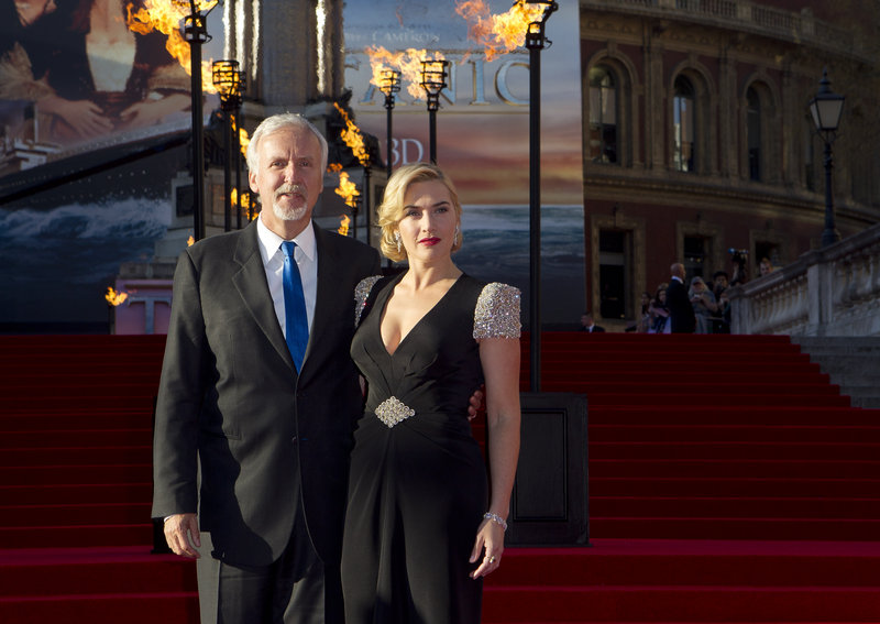James Cameron and Kate Winslet