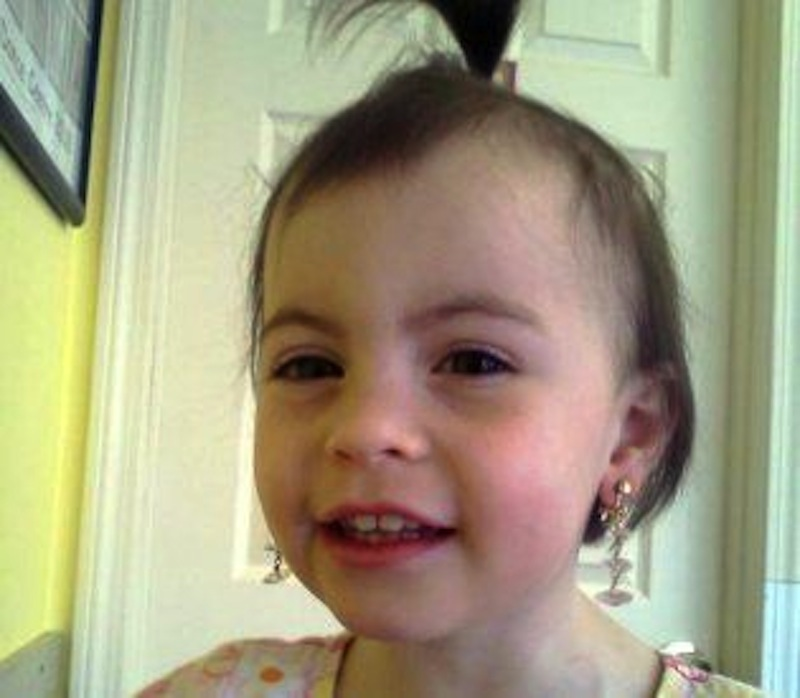 Missing 2-year-old Caleigh Anne Harrison, who vanished Thursday from a Rockport beach.