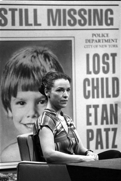In this March 26, 1981 file photo, Julie Patz, mother of Etan Patz, speaks on NBC-TV's