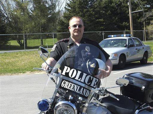 This undated photo provided by the Greenland Police Dept. shows Chief Michael Maloney. An official with knowledge of the investigation says Greenland Police Chief Michael Maloney was the officer killed during a drug bust-turned-shootout Thursday April 12, 2012 in New Hampshire that also left four other officers wounded. Maloney was due to retire in less than two weeks. (AP Photo/Greenland Police Department)
