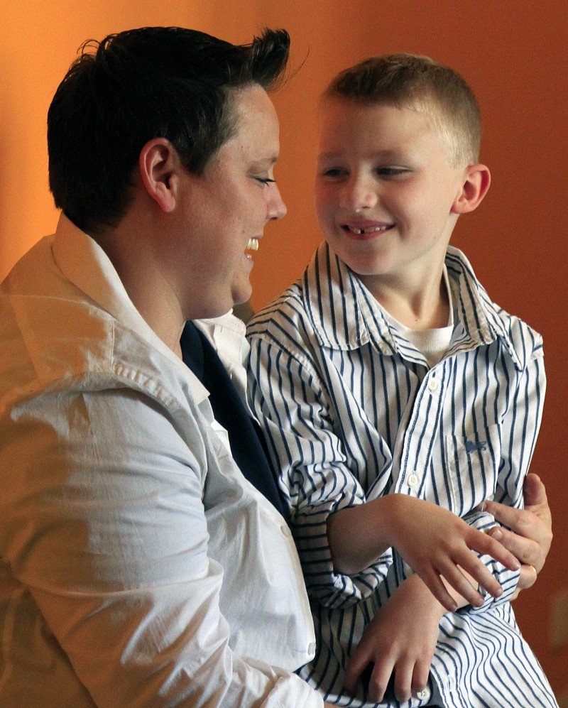 Jennifer Tyrrell was removed as den leader for her son's, Cruz Burns, 7, cub scout troop due to the organization's ban on gays.