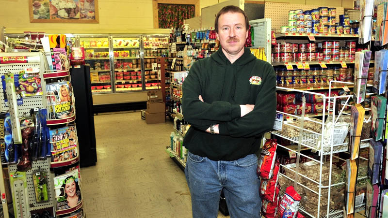 Rob Pleau, co-owner of Pleau's Market in Winslow, has a new food distributor since his original one, Associated Grocers of Maine, went out of business a year ago.