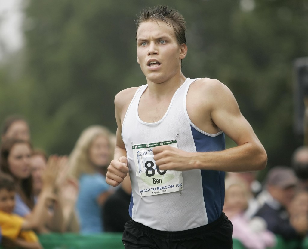 Ben True of North Yarmouth won his 2nd straight Boston Athletic Association 5K Road Race on Sunday.