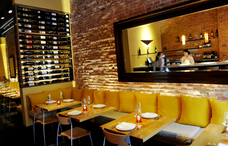 Emilitsa has created an elegant design in its narrow space at 547 Congress St. Its menu is a panoply inspired by family recipes that include the boldest of bold flavors – lemons, olives, feta, oregano, nutmeg, anise and tomato among them.