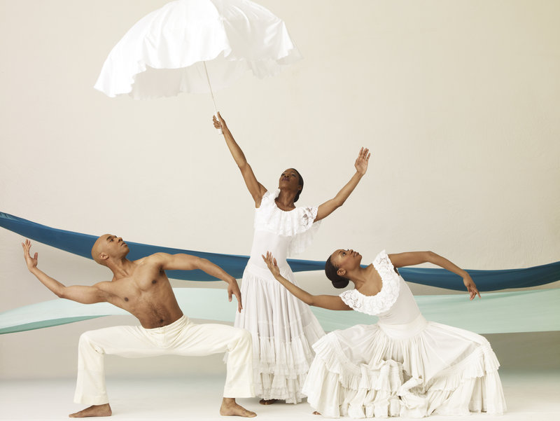 Dancers from Alvin Ailey American Dance Theater, which performs April 24 at the Merrill Auditorium in Portland.
