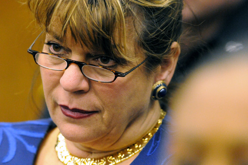 Prosecutor Angela Corey listens to a victim's impact statement in court last month.