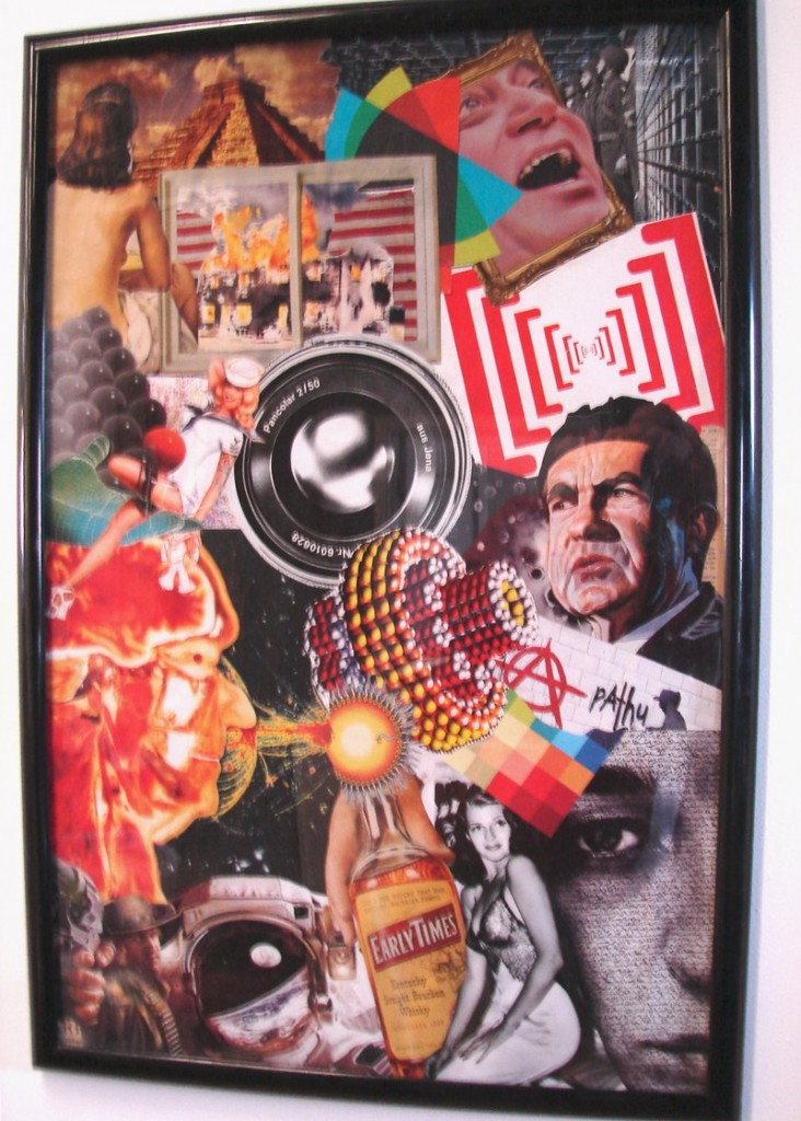 """""""Early Times,"""" collage by Dan Coulombe."""