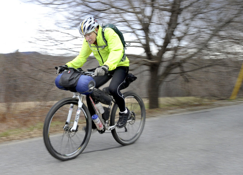 "Andy Hazen, 67, will be riding in June from Banff, Alberta, to Antelope Wells, N.M. – a mere 2,745 miles full of potential problems. And he'll be doing it despite a heart ailment. ""I want to do it in 22 days … and I think it's a doable goal,"" he says."