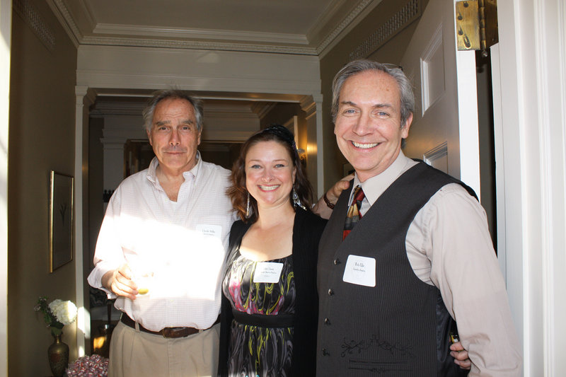 Board member and party host Charlie Miller, board president Ellie Chase and executive director Rob Ellis.