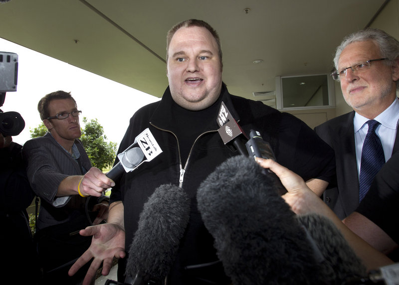 Kim Dotcom, founder of the file-sharing website Megaupload, is in New Zealand fighting extradition to the U.S.