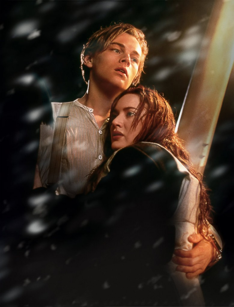 Leonardo DiCaprio and Kate Winslet are shown in a scene from the 3-D version of James Cameron's romantic epic