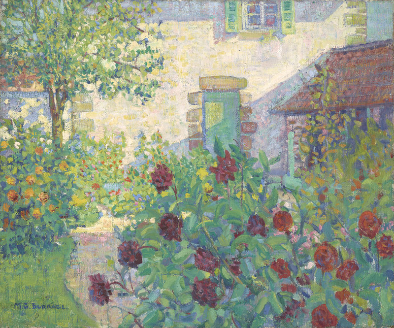 "Mildred Burrage's ""Le Jardin (The Garden),"" circa 1909-10, oil on canvas."
