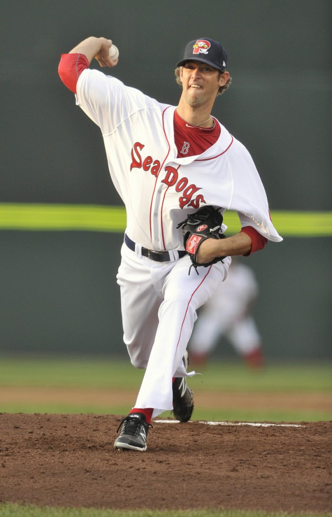 Chris Martin had an impressive start for the Sea Dogs, retiring the first 11 batters and finishing with three hits over six innings.